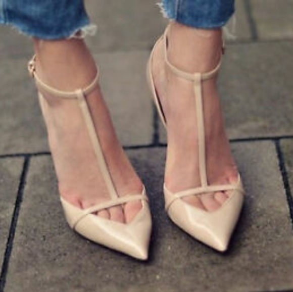 Missguided t-bar heels zara dupe